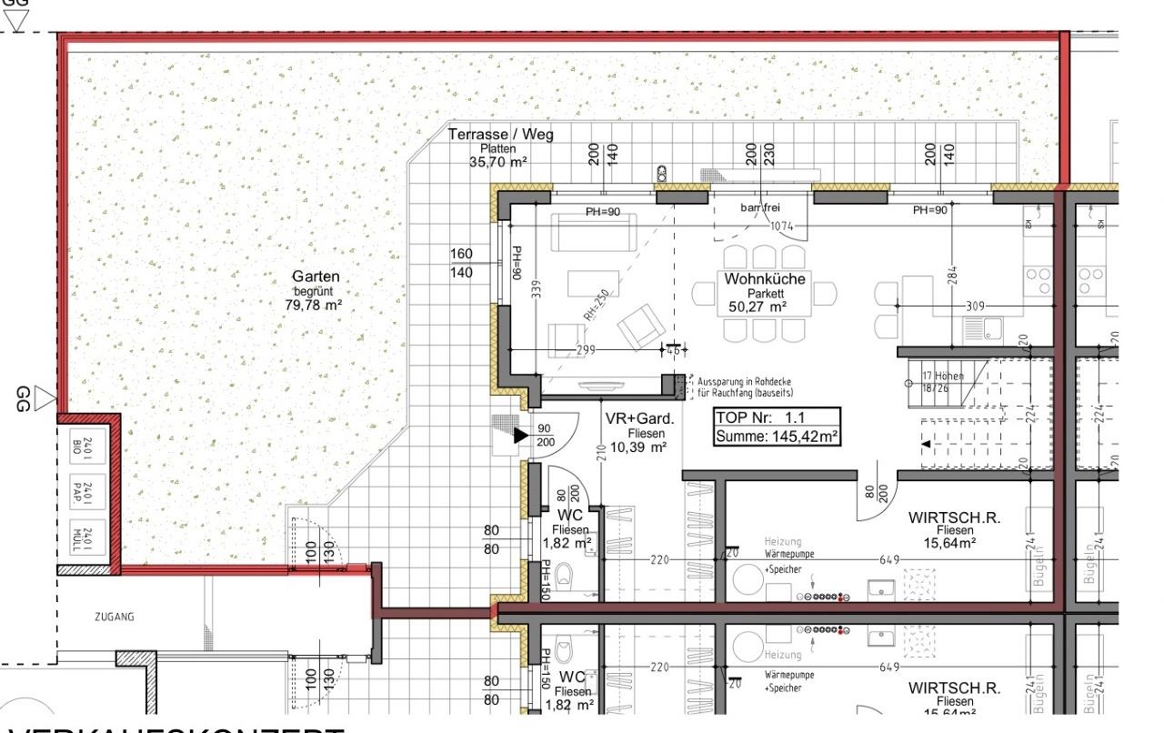 Plan 1.1 Musterhaus EG