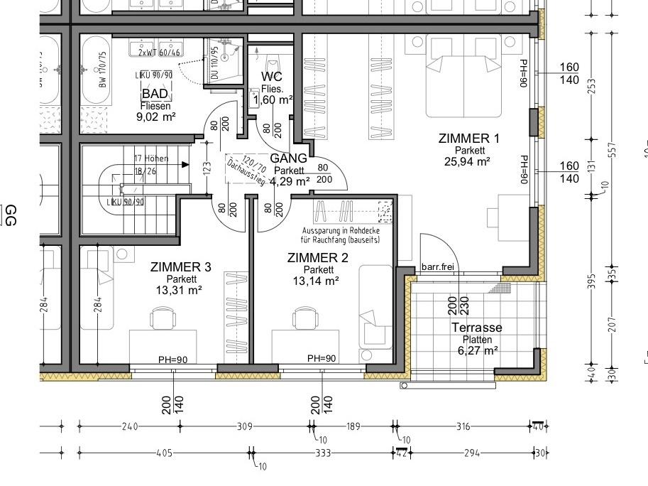Plan 1.4 Musterhaus OG