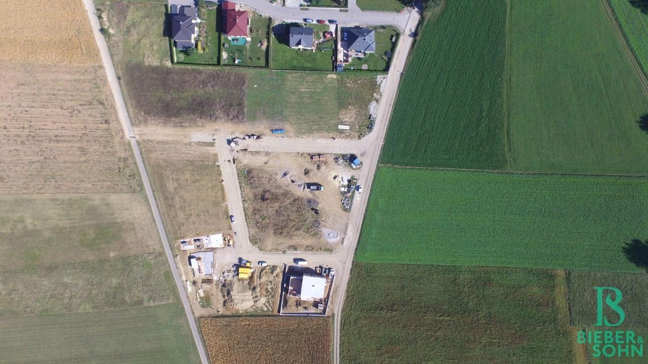Luftaufnahme Bauplatz