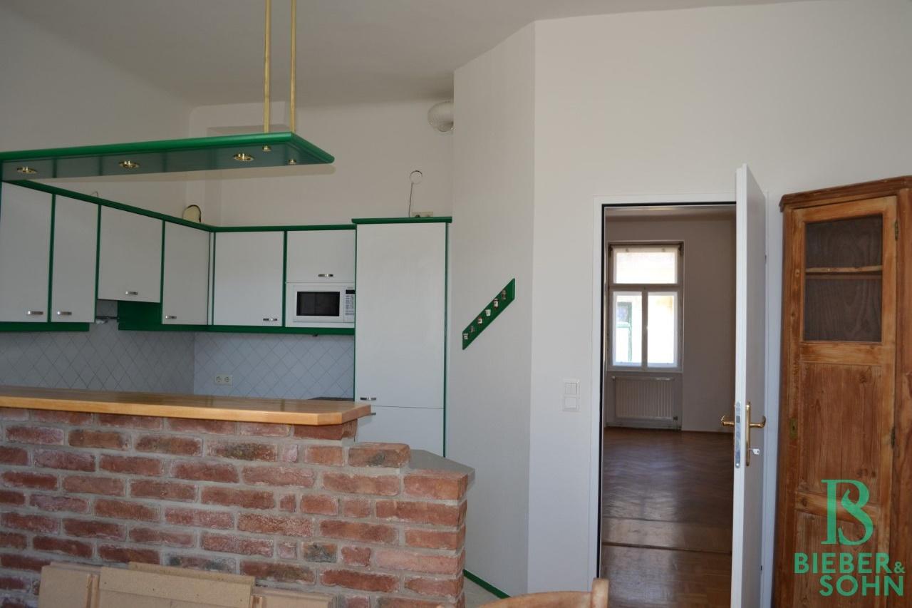Küche Blick Vorraum