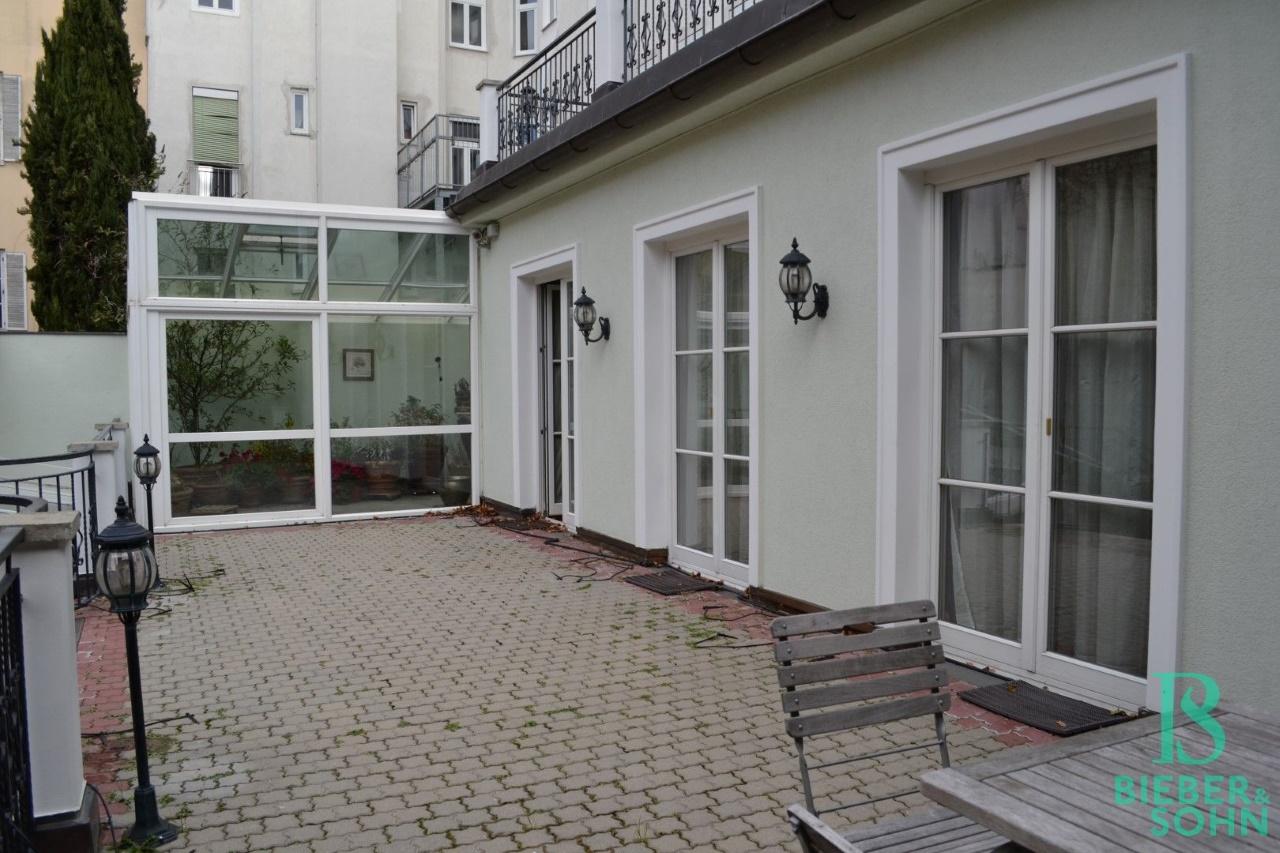 Terrasse EG/Blick Wintergarten