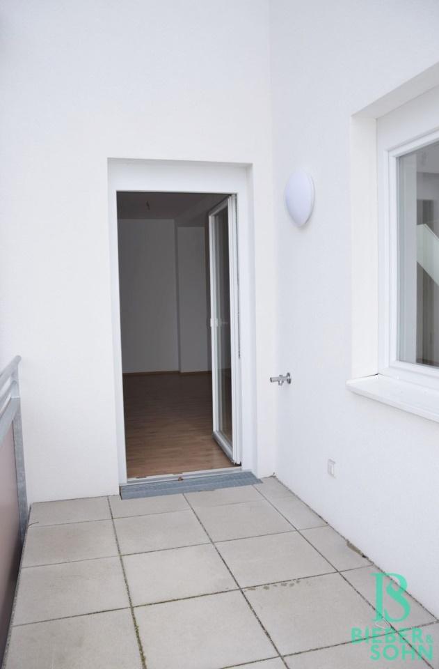 Balkon/Blick Wohnraum