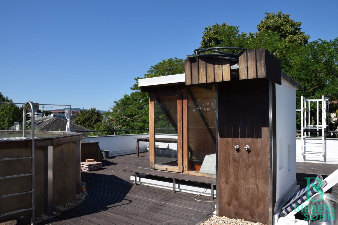 Dachterrasse/Dusche