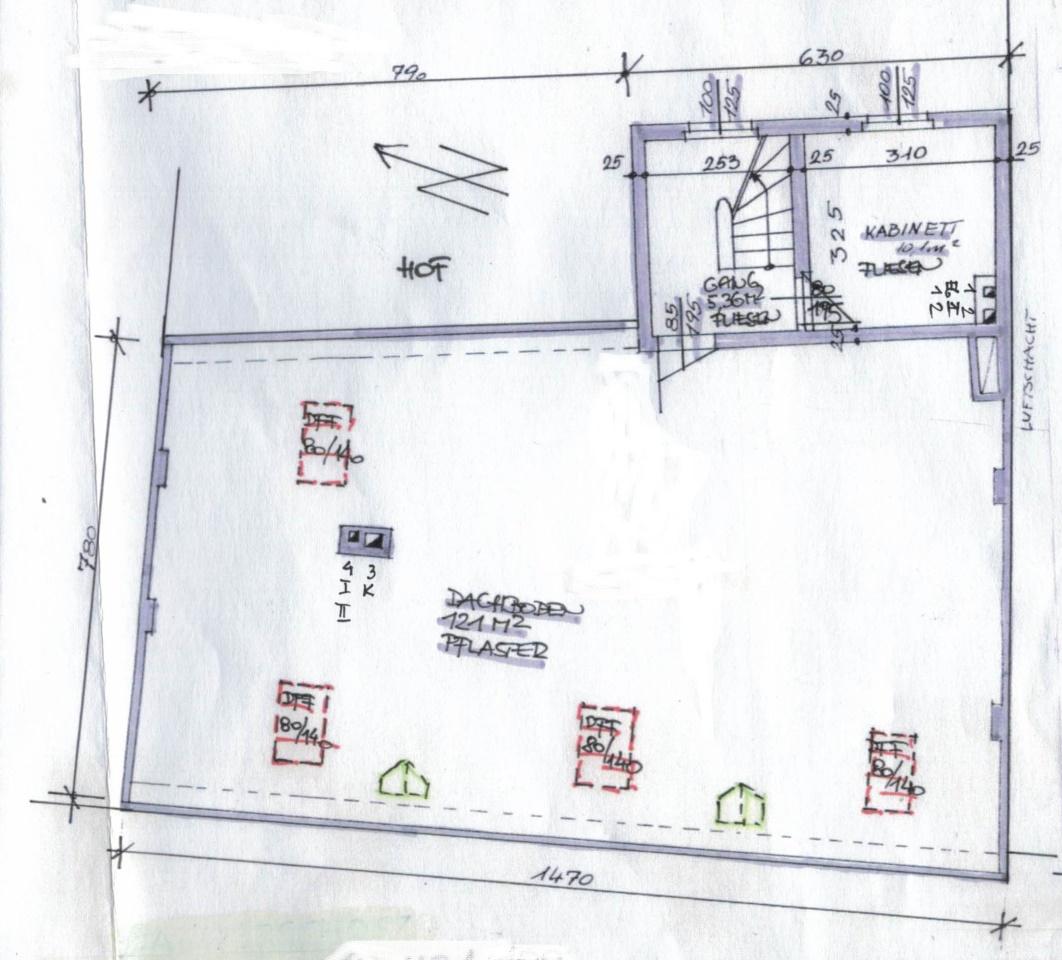 Dachboden Grundriss